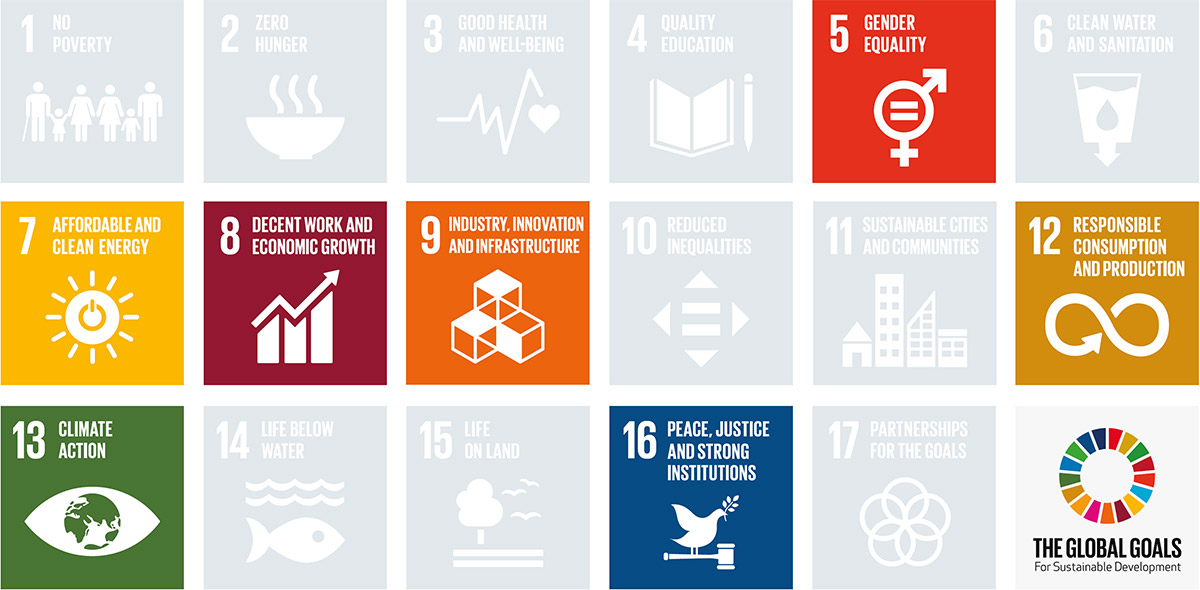 Chart of Global Goals for Sustainability