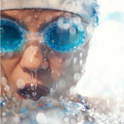 Trabsparente Materialien für Schwimmmasken + Schutzbrillen
